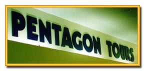 Pentagon Tours Sign